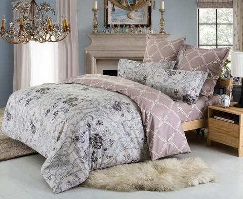 Сатиновое постельное бельё  1,5 спальное Сайлид  В-170
