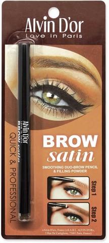 Alvin D`or P-5 Дуэт для бровей карандаш+пудра Brow Satin (тон 02 dark brown)