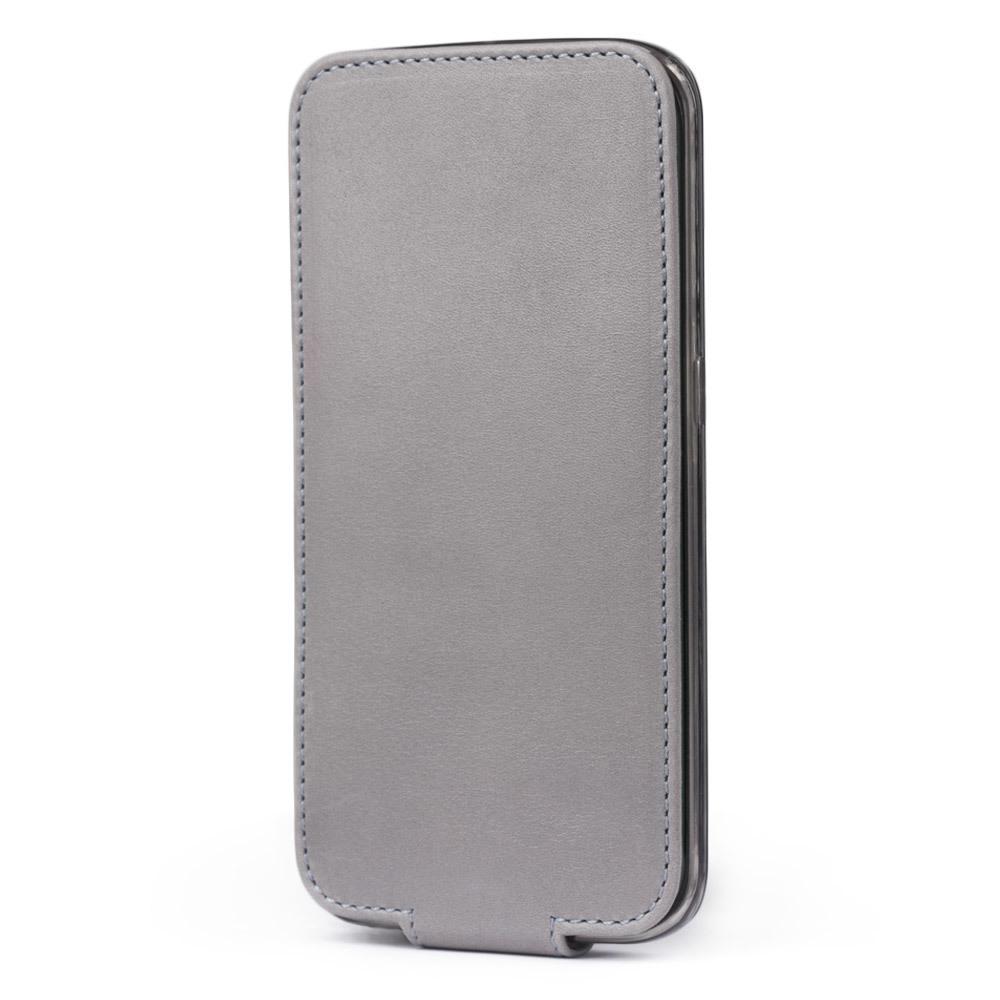 Чехол для Samsung Galaxy S6 edge из натуральной кожи теленка, светло-серого цвета