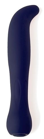 Темно-синий перезаряжаемый G-вибратор BAELLI - 12 см.
