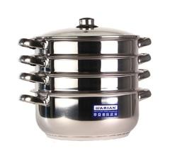 Мантоварка для индукционной плиты Arian Gastro диаметр 28 см со стеклянной крышкой 3 сетки Турция 9213.011