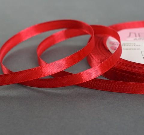 Лента атласная, цвет бордовый №33, 6мм*23±1м