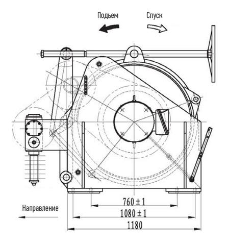 Компактная электрическая лебедка IDJ356-100-150-40
