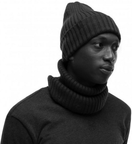 Вязаная шерстяная шапка Buff Hat Wool Knitted Norval Graphite фото 2
