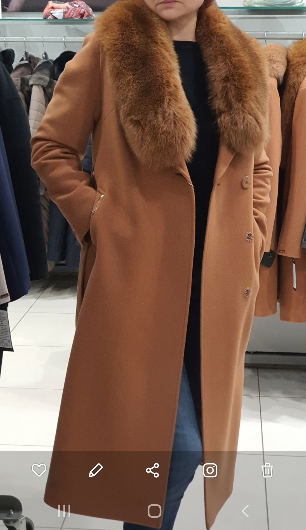 Пальто женское мех/воротником