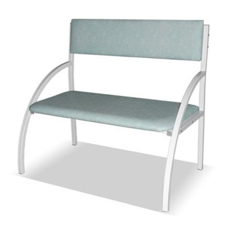 Банкетка со спинкой - кресло 1-местная (бюджет) - фото