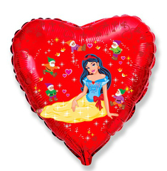 F Сердце Леди бантик, 18''/46 см, 1 шт.