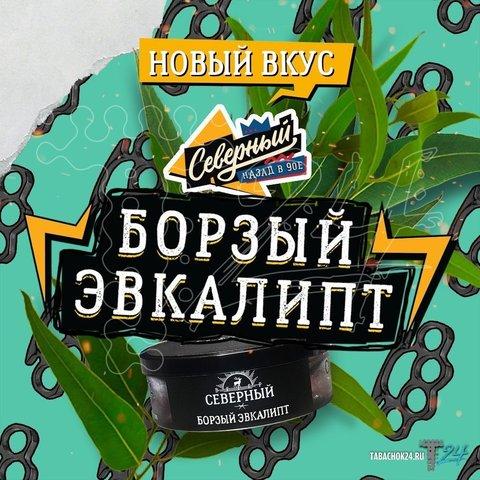 Табак Северный Борзый эвкалипт 100г