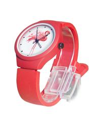 Часы наручные Фламинго № 2 красные