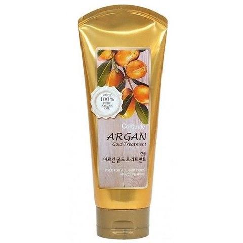 Confume Argan Gold Treatment увлажняющая маска с аргановым маслом и с золотом для поврежденных волос