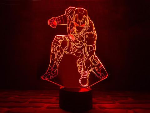 Art-lamps: 3д светильник - Железный человек