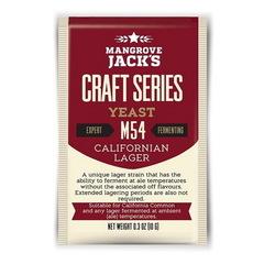 Дрожжи пивные Mangrove jack's M54 Californian lager, 10 г на 23 л