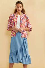 Куртка-бомбер з квітковим принтом