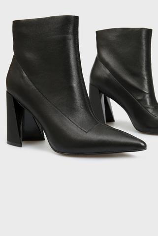 Женские черные кожаные ботильоны PRPY