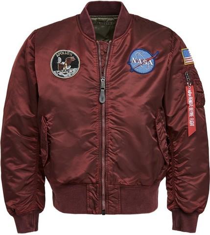 Бомбер Alpha Industries Apollo MA-1 Battlewash Commander Red (Бордовый)