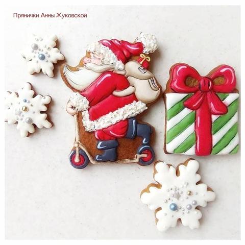 Набор №1852 - Дед Мороз на самокате