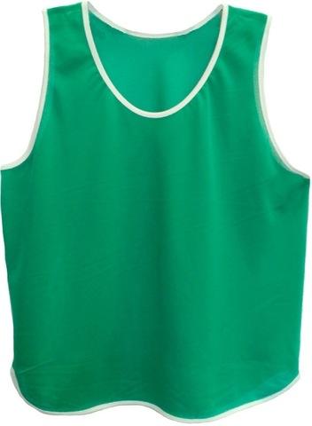 Манишка футбольная. Цвет: зеленый. Ткань - сетка аналог Adidas