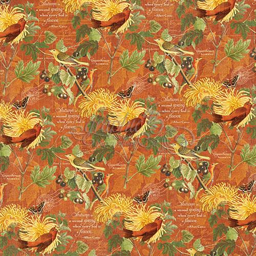 Бумага для скрапбукинга November Flourish Graphic45
