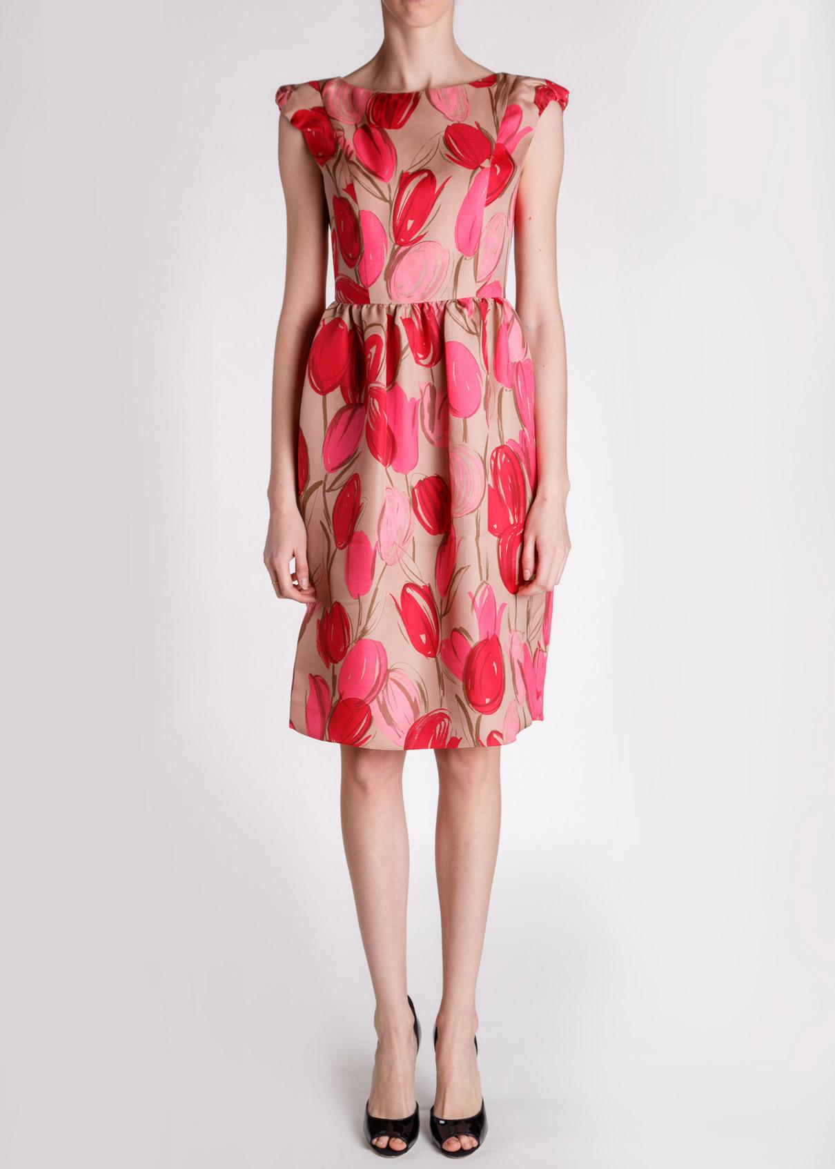 Платье из шелка KITON