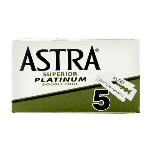 Лезвия для бритья Astra зеленые 5 штук
