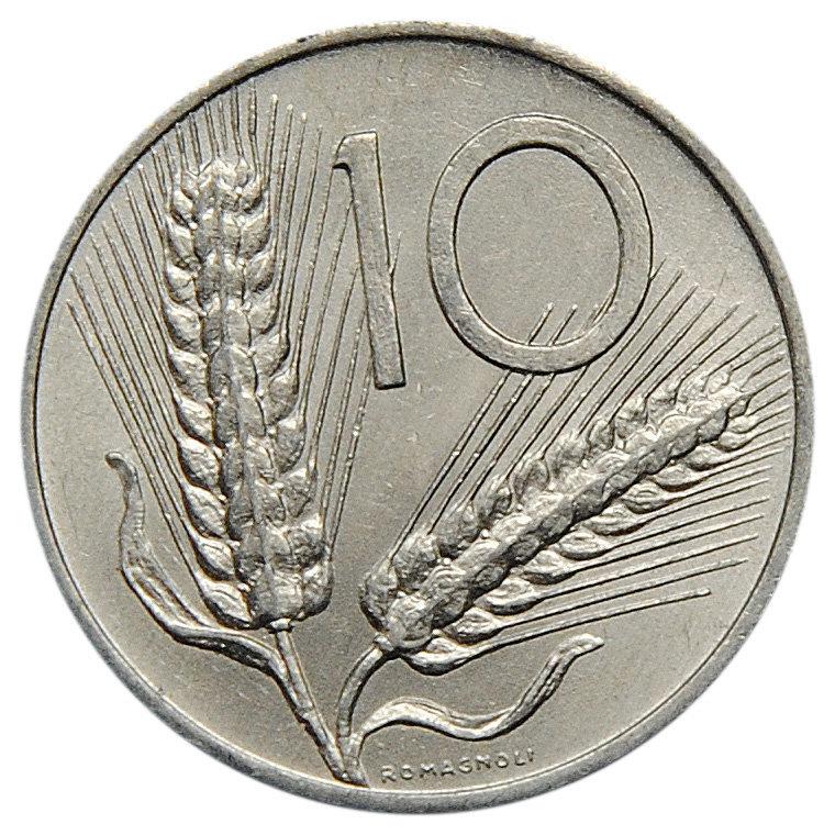 10 лир. Италия. 1980 год. AU-UNC