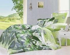 Сатиновое постельное бельё  2 спальное  В-151