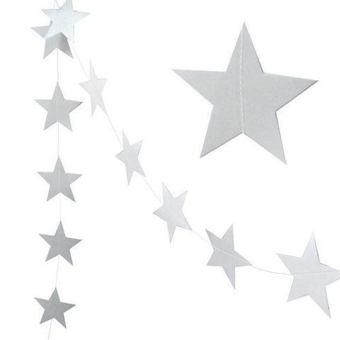 Гирлянда-подвеска Звезды Серебро