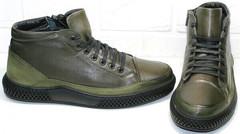 Осенние ботинки утепленные мужские термо Luciano Bellini BC2803 TL Khaki.