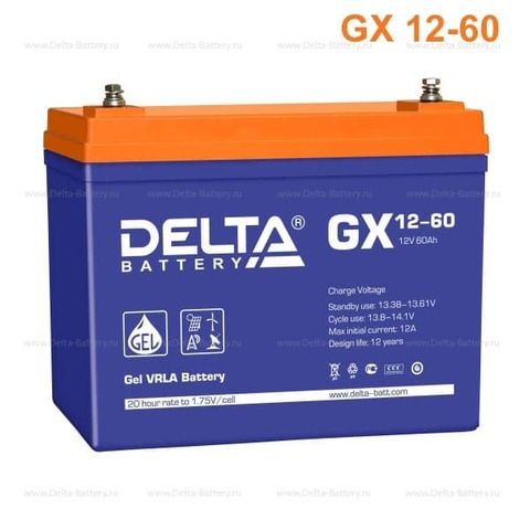 Аккумулятор тяговый DELTA GX 12-60 Xpert