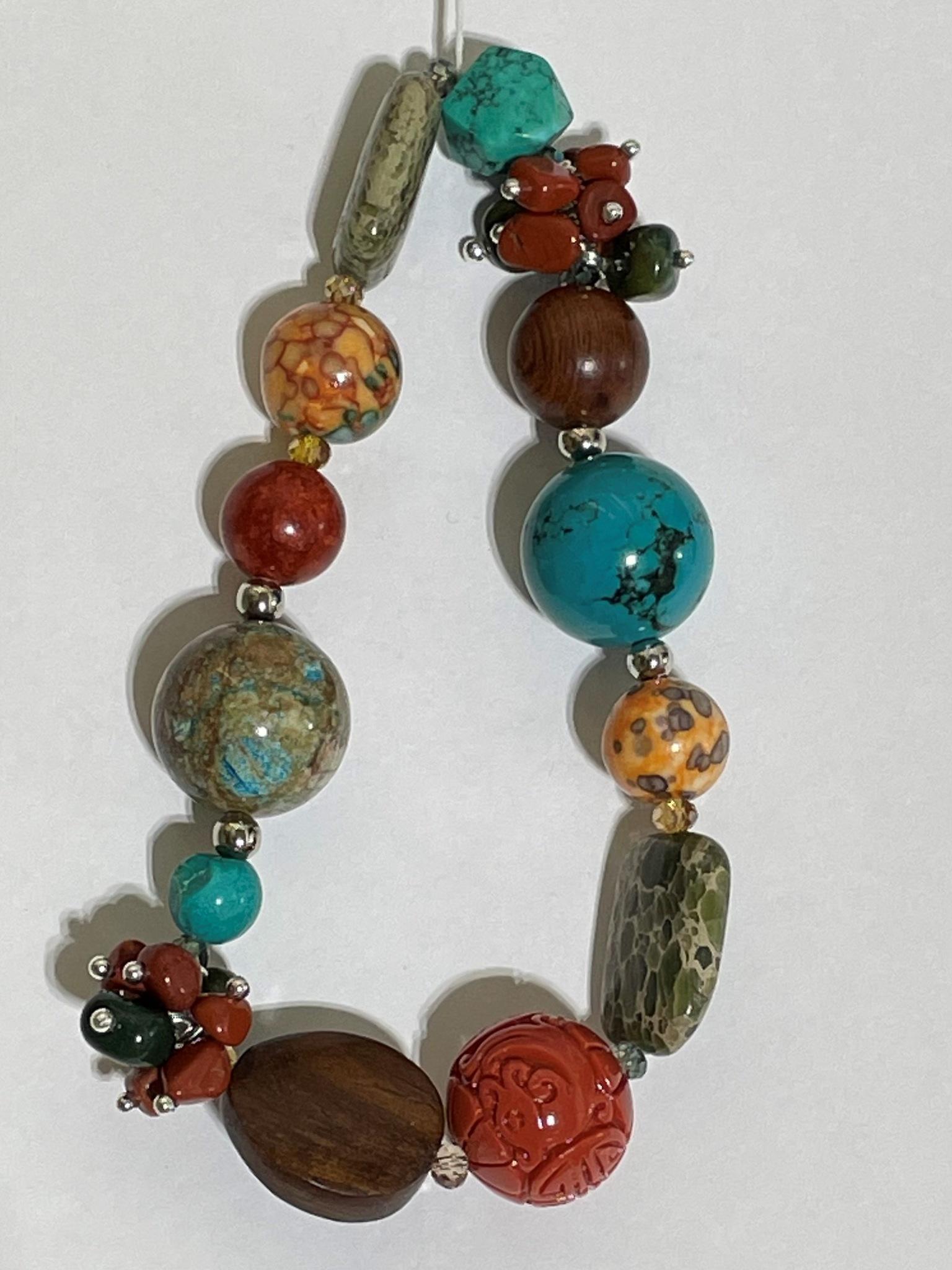 8008-бирюза (браслет из натуральных камней)