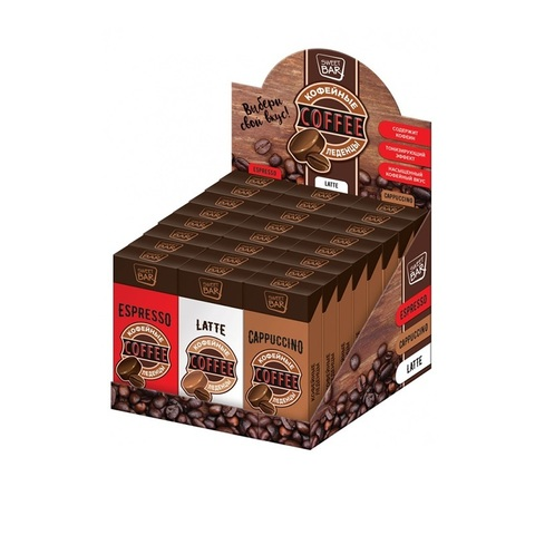 SWEET BAR Кофейная карамель в коробке 1кор*6бл*24шт, 35г.
