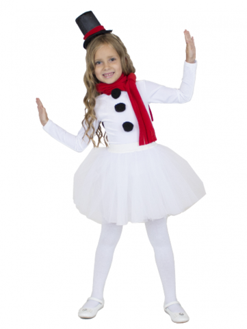Карнавальный костюм  Снежинка Снеговик девочка