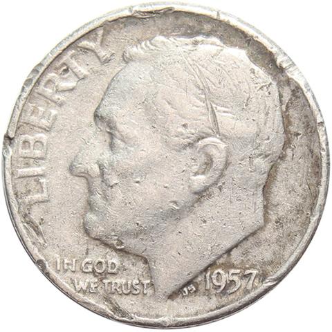 1 дайм (10 центов) 1957. США (D) VG- Серебро