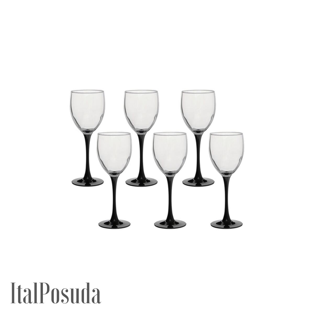 Набор бокалов для вина Luminarc Domino (Домино), 6 шт J0015