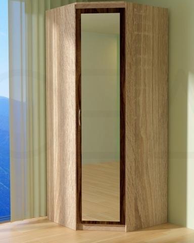 Шкаф угловой ВЕНА с зеркалом правый