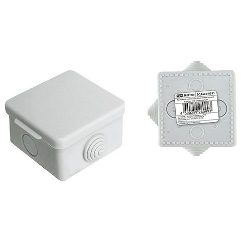 Коробка распаячная ОП SQ1401-0511 65х65х50мм крышка IP54