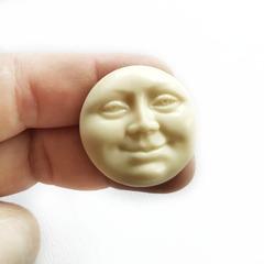 0885 Молд силиконовый. Лицо (Солнце, Луна)