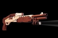 Дробовик RAVEN от TARG - деревянный конструктор, сборная модель, 3d пазл, деревянное оружие