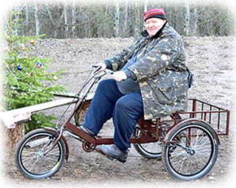 Триколісні велосипеди для людей з вагою більше 100 кг, інвалідів, хворих на ДЦП