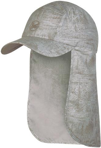 Кепка с защитой шеи от солнца Buff Bimini Cap Zinc Silver Grey фото 1