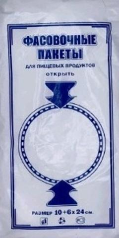 Пакет полиэтиленовый фасовочный, ПНД 10+6х24 (6) В пластах (С) (арт 45072)