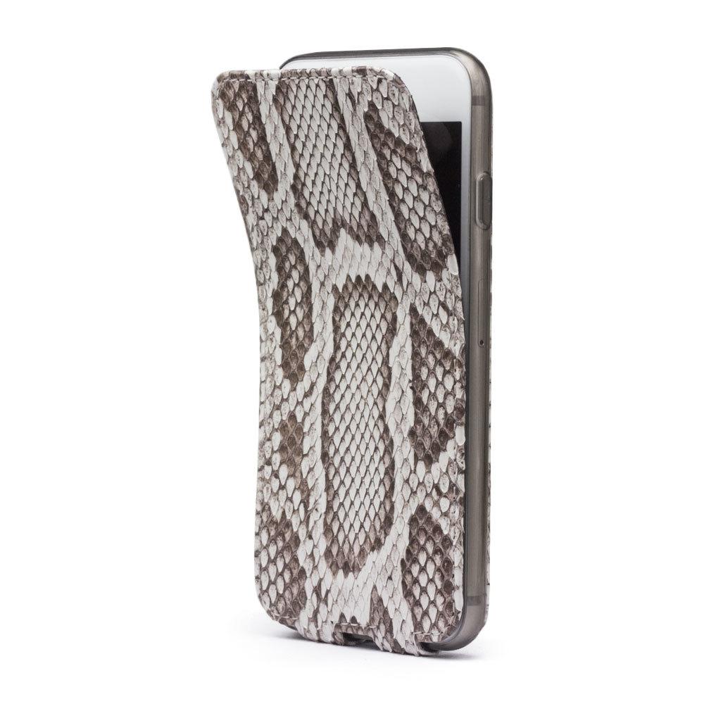 Чехол для iPhone 8 Plus из натуральной кожи питона, цвета Natur