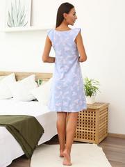 Мамаландия. Сорочка для беременных и кормящих на кнопках, ананас/голубой