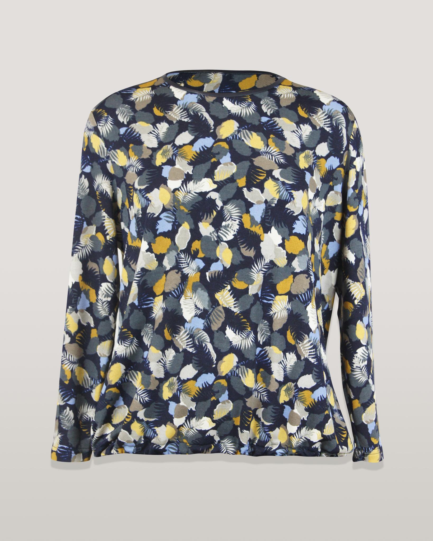 Блузка Ibis 7923 перышки акварель