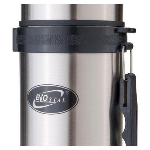 Термос Biostal (1,2 литра) с ручкой, стальной