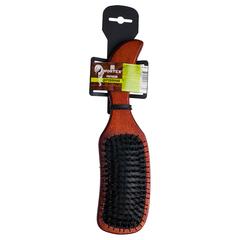 Расческа деревянная, массажная, «волна», с пластиковыми зубчиками и натуральной щетиной