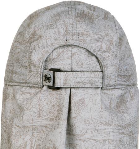 Кепка с защитой шеи от солнца Buff Bimini Cap Zinc Silver Grey