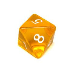 Куб D8 прозрачный: Желтый