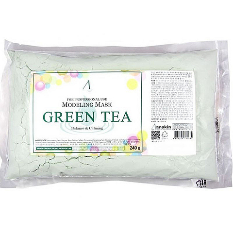 Маска альгинатная с экстрактом зеленого чая успокаивающая 240 гр