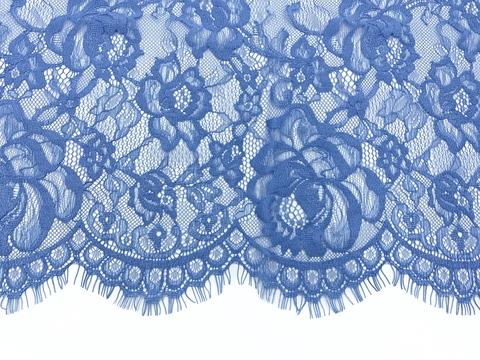 Кружевное полотно шантильи сине-голубое (1,5х3м)